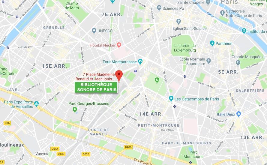 Bibliothèque sonore Paris
